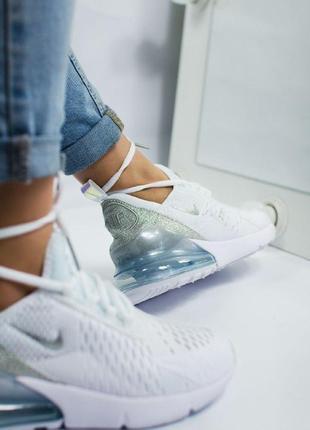 Шикарные женские кроссовки nike air max 270 white6 фото