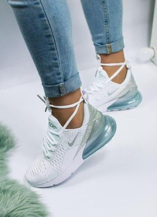 Шикарные женские кроссовки nike air max 270 white