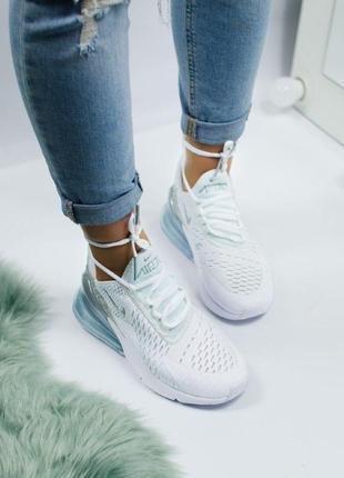 Шикарные женские кроссовки nike air max 270 white7 фото