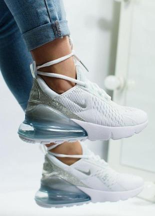 Шикарные женские кроссовки nike air max 270 white8 фото