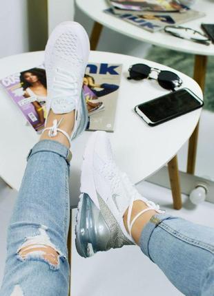 Шикарные женские кроссовки nike air max 270 white9 фото