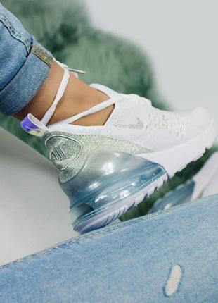 Шикарные женские кроссовки nike air max 270 white10 фото