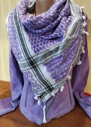 Сиреневая галь шарф платок