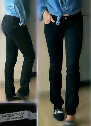 27-29р с-м piazaitalia прямые брюки, штаны черные