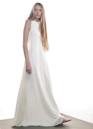 Шелковое платье для невесты или выпускницы