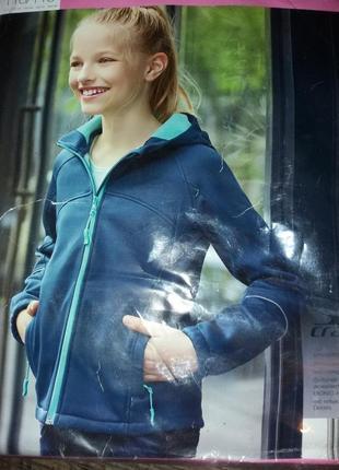 Куртка  для  дівчинки з softshell. розмір  110/116