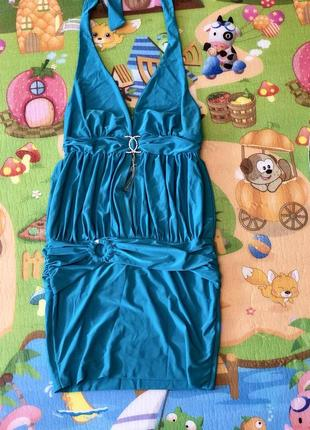 Красивое платье.голубое платье.нарядное платье