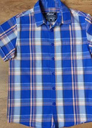 Новая рубашка короткий рукав rebel на 7-8 лет