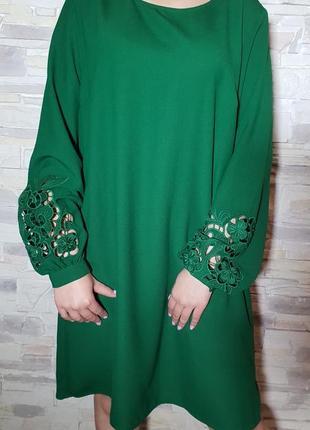 Красивое платье с ажурными рукавами
