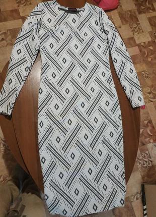 Платье облегающее миди