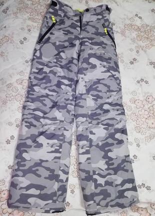 Лыжные штаны милитари унисекс crane на 11-12лет