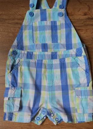 Яркий комбинезон ромпер шорты babaluno на 9-12 месяцев рост 74-80 см