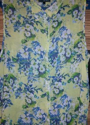 Нежная, шифоновая фирменная актуальная блуза с удлиненной спинкой!