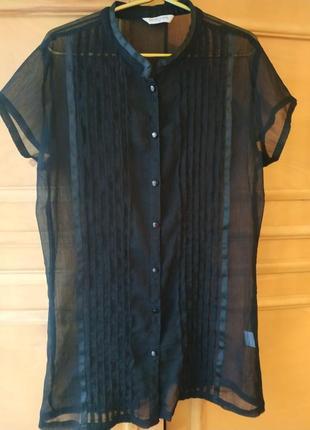 Прозрачная черная блуза