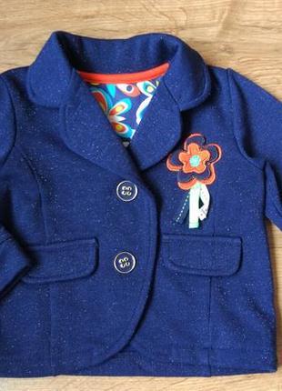 Новый блестящий шикарный пиджак george на 6-9 месяцев рост 68-74 см, большемерит