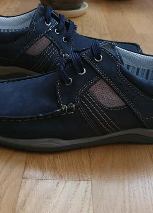 Супер зручнi туфлi-мокасини frank walker із натурального нубуку4 фото
