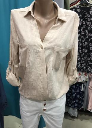 Бежевая блузка dilvin