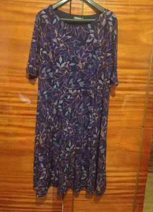 Стильное интересное платье для пышной красавицы / bonmarche / 6 xl