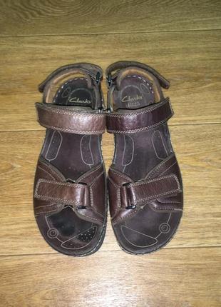 Кожаные сандалии, босоножки clarks, р-р 42, на ногу 27-27,5 см