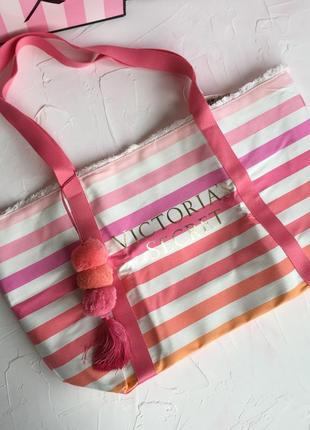 Розовая сумка victoria's secret оригинал, пляжная сумочка шоппер виктория сикрет