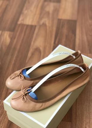 Кожаные балетки кожа