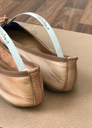 Кожаные балетки кожа3 фото