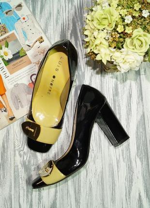 Luis onofre. италия. кожа. оригинал. красивые туфли на устойчивом каблуке