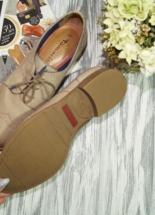 Tamaris. кожа. стильные туфли на шнуровке, оксфорды с memory стельками2 фото