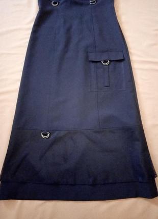 Распродажа!  черное платье с отделкой сеточкой5 фото