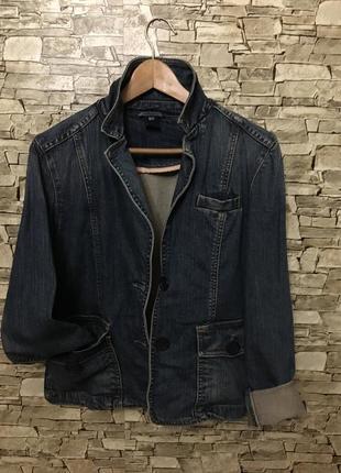 Крутейшая джинсовая куртка-пиджак от gap