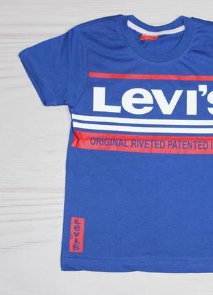 Хлопковая синяя футболка levis, с надписями, турция