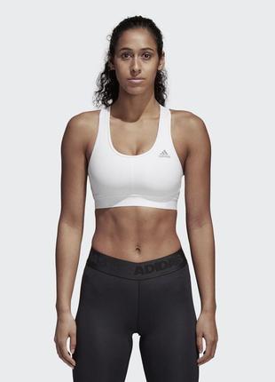 Идеальный белый спортивный эластичный топ, лиф adidas, p.xs(34)
