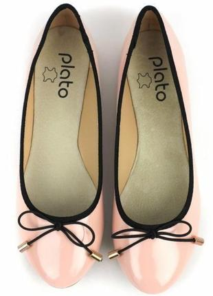 c3dac87e623eec1 Пудровые балетки туфли туфельки лато plato 39р-р стелька натуральная кожа