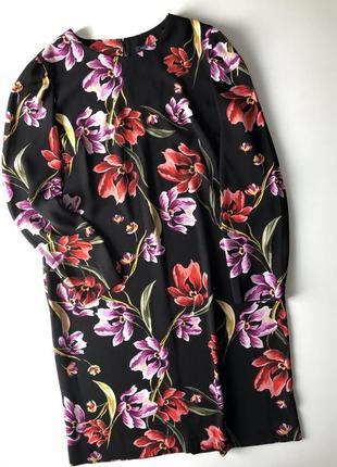 Платье m&s в цветочный принт. размер 14. новое.