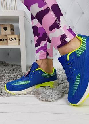 ba197600 ... Крутые кроссовки яркие неоновые аирмаксы синие с желтыми вставками все  размеры акция9 ...