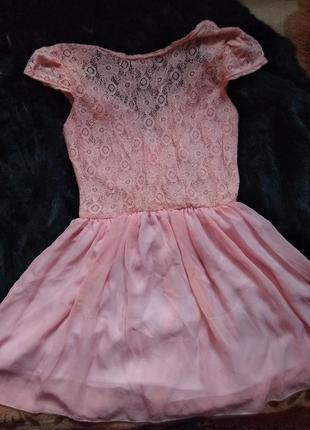 Лёгкое персиковое платье