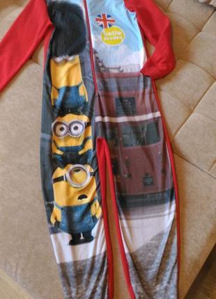 Кигуруми с принтом миньоны, пижама george,  13-14лет, рост158-164см