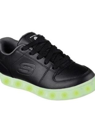 Skechers energy lights сникерсы, кроссовки с подсветкой, кожа, оригинал