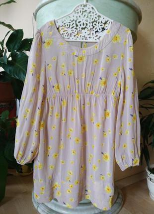 Нежное романтическое нюдовое платье цветы