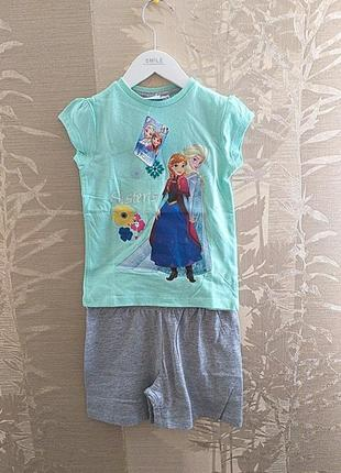 Наборы футболка и шорты frozen elsa&anna