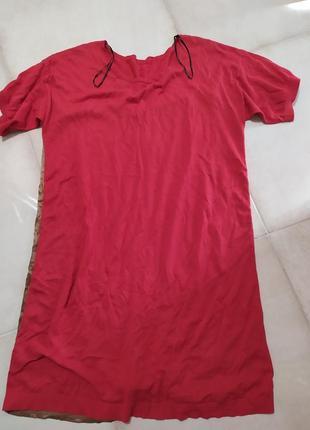 Платье шёлк + котон massimo dutti4 фото