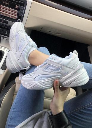 Массивные кроссовки nike m2k tekno в белом цвете (весна-лето-осень)😍