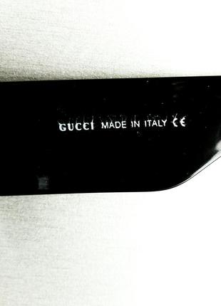 Gucci очки женские солнцезащитные большие черные квадратные в камнях6 фото
