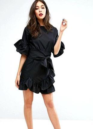 cd29238fda9 Платье с рюшами и бантом