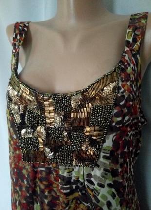 Распродажа!  шифоновое платье, майка, блуза туника с красивенной вышивкой