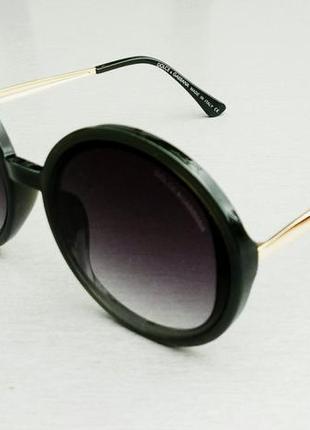 Dolce & gabbana очки круглые женские солнцезащитные оправа цвета хаки2 фото