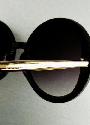 Dolce & gabbana очки круглые женские солнцезащитные оправа цвета хаки7 фото