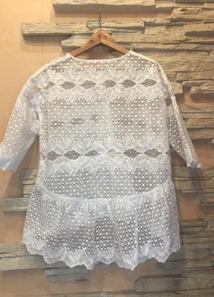 Кружевной пиджак-кардиган2 фото