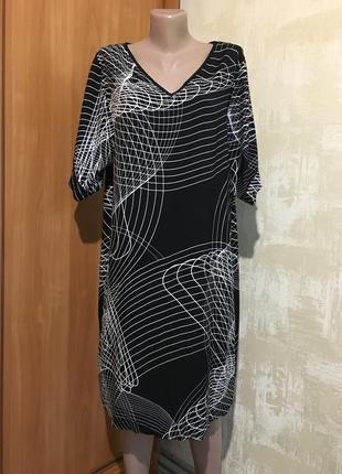 Идеальное натуральное платье в принт,вискоза!!