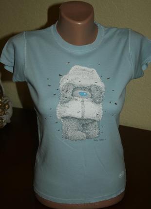 Милая нежная футболка с мишкой teddy